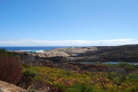 Result of a very hot fire at the mouth of the Margaret River (D Postma).